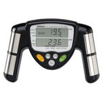 A handheld body fat analyzer that measures body fat