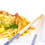 Healthy chinese food vegetable lo mein