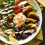 easy mediterranean diet recipe grain bowl