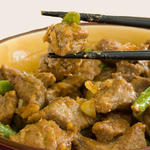 Healthy chinese food orange beef