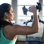 woman strength training as a healthy lifestyle habit