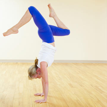 yoga for beginners how to do handstand pose  shape magazine