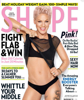 pink singer weight loss