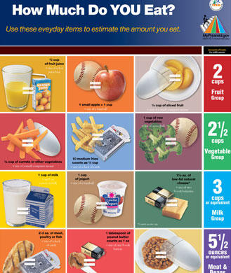 Eat less with this portion size chart and healthy eating tips