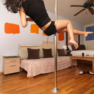 why you should try the pole dance fitness trend  shape