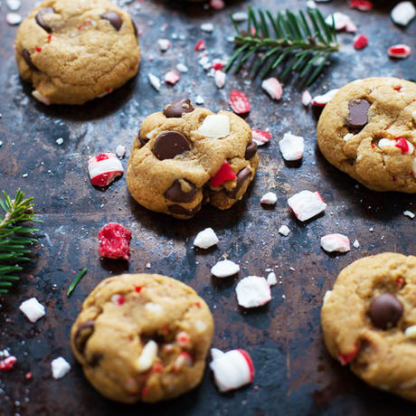 healthy holiday cookies peppermint dark chocolate