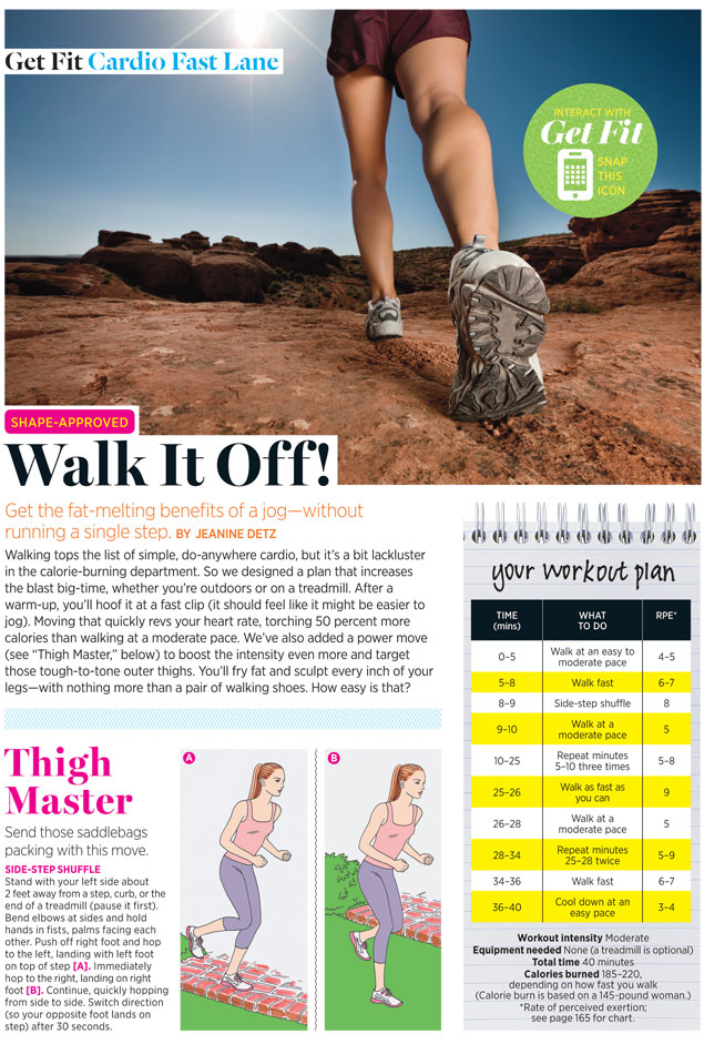 Easy Walking Weight Loss Plan Thats Also A Thigh Workout Shape