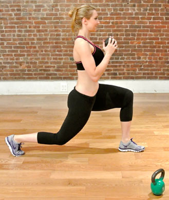 Reverse alternating lunge
