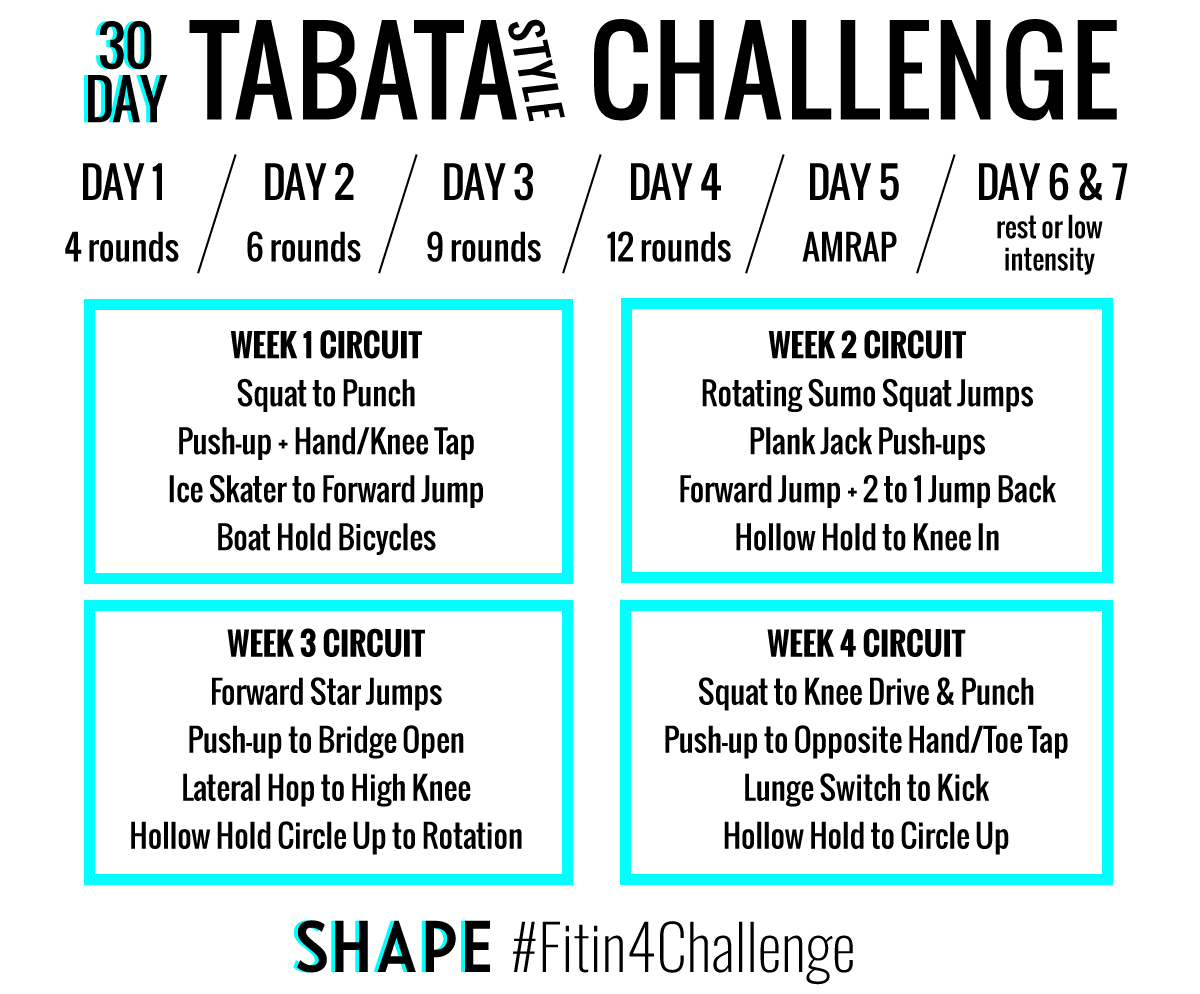 The 30 Day Tabata Style Workout Challenge That Will Have You